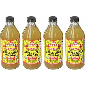 Bragg AsTrcC Usda Organic Raw Apple Cider Vinegar, 16 oz (4 Pack)