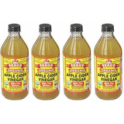 Bragg AsTrcC Usda Organic Raw Apple Cider Vinegar, 16 oz (4 Pack)