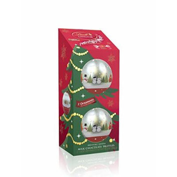 Lindt Lindor Ornaments with Milk Chocolate Truffles 5.1 oz gift set (2 pack)