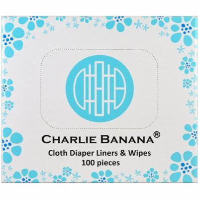 Charlie Banana, Cloth Diaper Liners & Wipes , 100 Pieces(pack of 6)