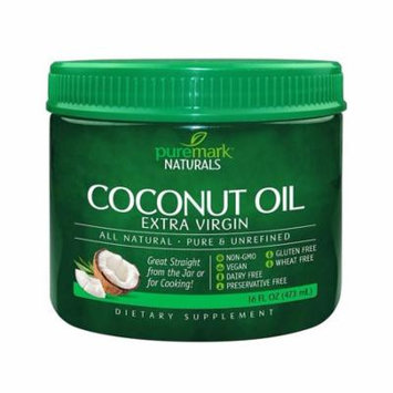 Puremark Naturals Extra Virgin Coconut Oil, 16oz 740985252567A869