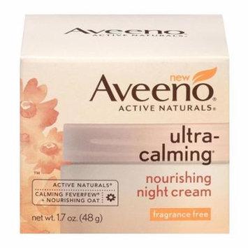 Aveeno Ultra-Calming Nourishing Fragrance Free Night Cream, 1.7 oz, 6 Pack
