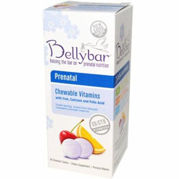 Bellybar, Prenatal Chewable Vitamins, Mixed Fruit Flavor, 60 Chewable Tablets(pack of 2)