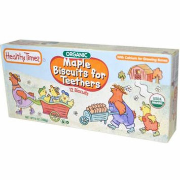 Healthy Times, Organic Biscuits for Teethers, Maple, 12 Biscuits, 6 oz (pack of 4)