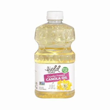 Field Day Expeller Pressed Canola Oil - Canola Oil - Pack of 12 - 32 Fl Oz.