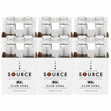 Llanllyr Source Club Soda Mixer (Case of 6 - 4 Packs, 24 Bottles Total)