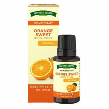 Natures Truth Aromatherapy 100% Pure Orange Sweet Essential Oil, 0.51 Oz, 3 Pack
