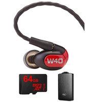 Westone W40 Quad Driver Premium In-Ear Monitor Headphones - 78504 w/ FiiO A3 Amp Bundle