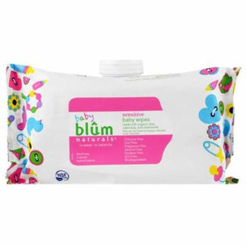 Blum Naturals, Baby, Sensitive, Baby Wipes, Fragrance Free, 72 Wipes(pack of 2)