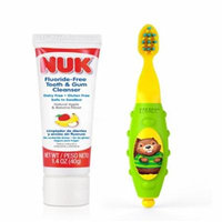 NUK, Grins & Giggles Toddler Toothbrush Set, 12+ Months, 1 Cleanser & 1 Brush(pack of 6)
