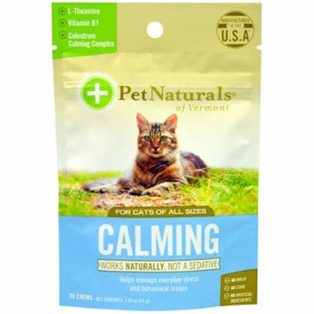 Pet Naturals of Vermont, Calming, For Cats, 30 Chews, 1.59 oz (pack of 2)