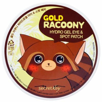 Secret Key, Gold Racoony Hydro Gel Eye & Spot Patch, 90 Pieces(pack of 1)