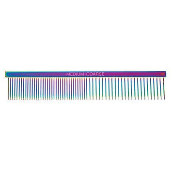 Rainbow Color Greyhound Combs for Dog Grooming Tools 3 Size Sets Available Too (Rainbow Medium/Coarse)