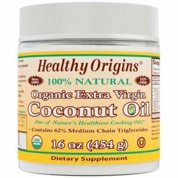 Healthy Origins, Organic Extra Virgin Coconut Oil, 16 oz(pack of 2)