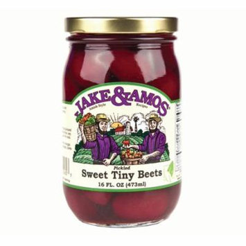 Jake and Amos Pickled Sweet Tiny Beets 16 oz. (2 Jars)