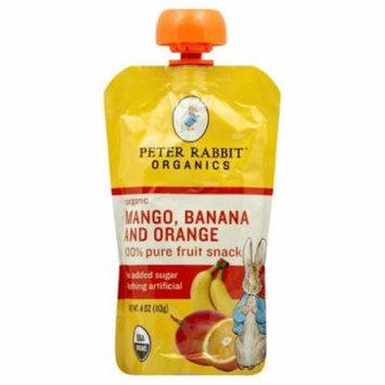 Peter Rabbit Banana and Orange Mango Organic 100% Pure Fruit Snack, 4 Oz (Pack of 10)