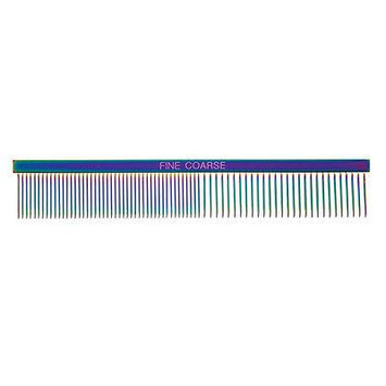 Rainbow Color Greyhound Combs for Dog Grooming Tools 3 Size Sets Available Too (Rainbow Fine/Coarse)