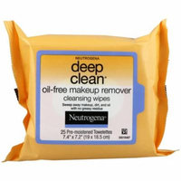 Neutrogena, Deep Clean, Oil-Free Makeup Remover Cleansing Wipes, 25 Towelettes(pack of 12)