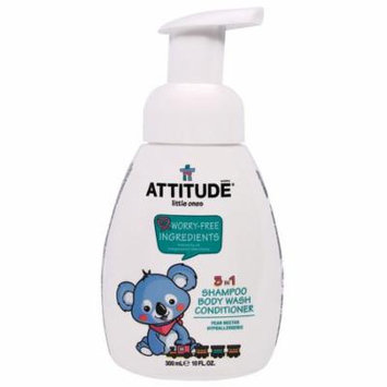 ATTITUDE, Little Ones, 3 in 1 Shampoo Body Wash Conditioner, Pear Nectar, 10 fl oz(pack of 6)