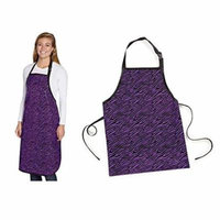 Value Grooming Apron Bright Colored Zebra Printed Quality Groomers Salon Aprons(Purple)