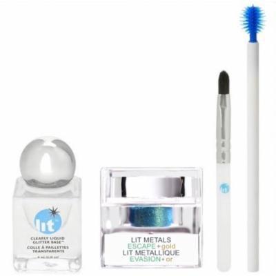 Lit Cosmetics -Liquid Metals Lit Kit Eyeshadow - Escape + Gold