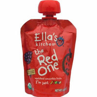 Ella's Kitchen, The Red One, Squished Smoothie Fruits, 3 oz (pack of 4)