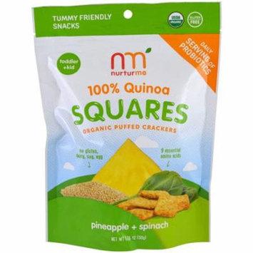 NurturMe, 100% Quinoa Squares, Organic Puffed Crackers, Pineapple + Spinach, 1.76 oz(pack of 12)