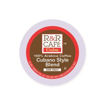 32-Count R & R Café Cuba Cubano Style Blend Coffee Pods for Single Serve Coffee Makers