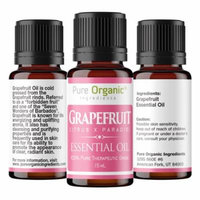 Grapefruit Pure Essential Oil 15 ml by Pure Organic Ingredients, Promotes Clear Healthy Skin, Energizing & Uplifting Aroma, Supports Healthy Metabolism, Convenient Dropper Cap Bottle