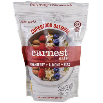 Earnest Eats, Superfood Oatmeal, Cranberry + Almond + Flax, 12.6 oz(pack of 6)