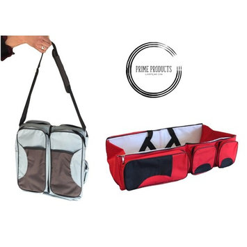 Prime - Multi Functional 3 in 1 Diaper Bag, Travel Bag, Travel Bassinet, and Portable Changing Table