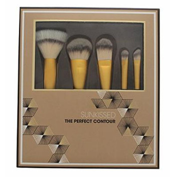 Sunkissed The Perfect Contour Brush Gift Set 5 x Brushes (Stippling Brush + Contour Brush + Foundati