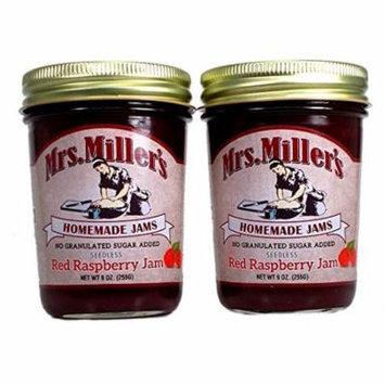 Mrs. Millers No Sugar Seedless Red Raspberry Jam - 2 pk.