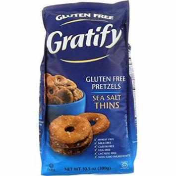 Gratify Pretzels - Thins - Sea Salt - Gluten Free - 10.5 oz - case of 6 - Gluten Free - Dairy Free - Wheat Free-