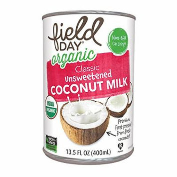 FIELDY Organic Coconut Milk; Classic Unsweetened , Pack of 12