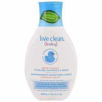 Live Clean, Baby, Gentle Moisture, Tearless Shampoo & Wash, 10 fl oz(pack of 3)