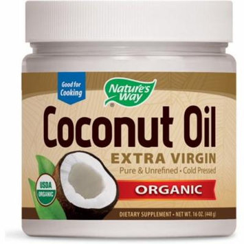 2 Pack - Nature's Way Organic Coconut Oil, Extra Virgin 16 oz