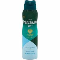 4 Pack - Mitchum Dry Advanced Control Anti-Perspirant & Deodorant Spray, Clean Control 4 oz