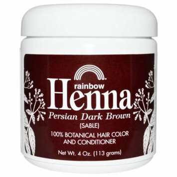 Rainbow Research, Henna, Hair Color & Conditioner, Dark Brown (Sable), 4 oz (pack of 6)
