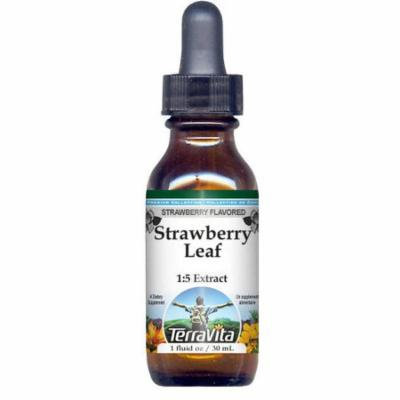 Strawberry Leaf Glycerite Liquid Extract (1:5) - Strawberry Flavored (1 oz, ZIN: 523078) - 2-Pack