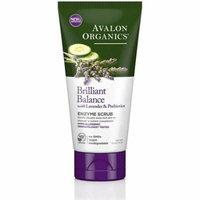 3 Pack - Avalon Organics Brilliant Balance with Lavender & Prebiotics Enzyme Scrub 4 oz