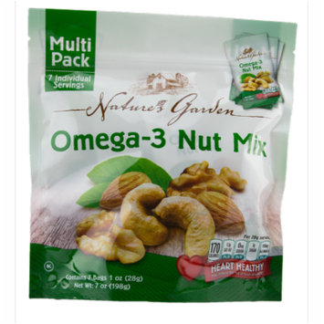 Nature's Garden OMEGA 3 NUT MIX - MULTIPACK, count of 2, 7 each