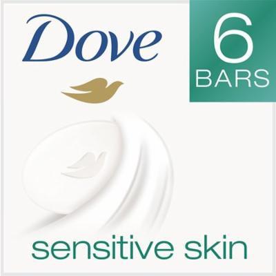 Dove Beauty Bar, Sensitive Skin 4 oz, 6 bar