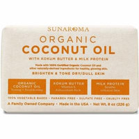 3 Pack - Sunaroma Organic Coconut Oil Soap 8 oz