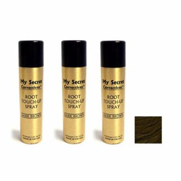 My Secret Correctives Root Touch-Up Spray DARK BROWN - 2oz - Three Pack