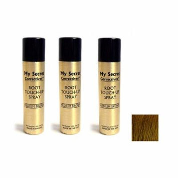 My Secret Correctives Root Touch-Up Spray MEDIUM BROWN - 2oz - Three Pack