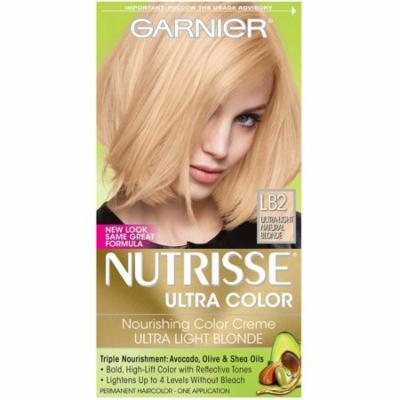 4 Pack - Garnier Nutrisse Ultra Color Nourishing Color Creme, Ultra Light Natural Blonde [LB2] 1 ea