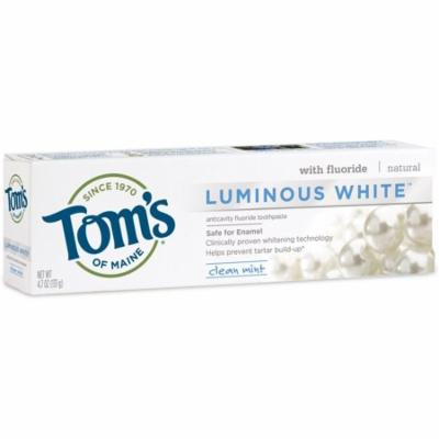 3 Pack - Tom's of Maine Luminous White Whitening Natural Toothpaste, Clean Mint 4.7 oz