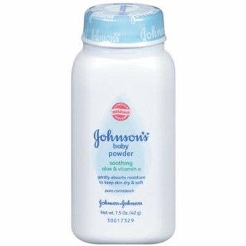 3 Pack - JOHNSON'S Baby Powder, Soothing Aloe & Vitamin E 1.50 oz