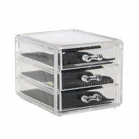 Mini Acrylic Cosmetic Storage Display Box/ 3 drawers Cosmetic Organizer